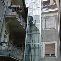 Liftkonstruktion Sporgasse-Innenhof