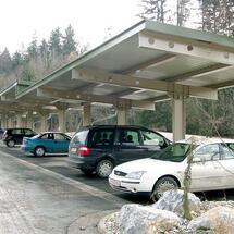 Dachkonstruktion Abstellplatz Hörgas