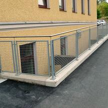 Geländer-Füllung mit Krippgitter-verzinkt